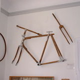 Wooden bike in cycle museum