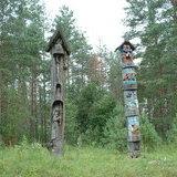 Carved poles