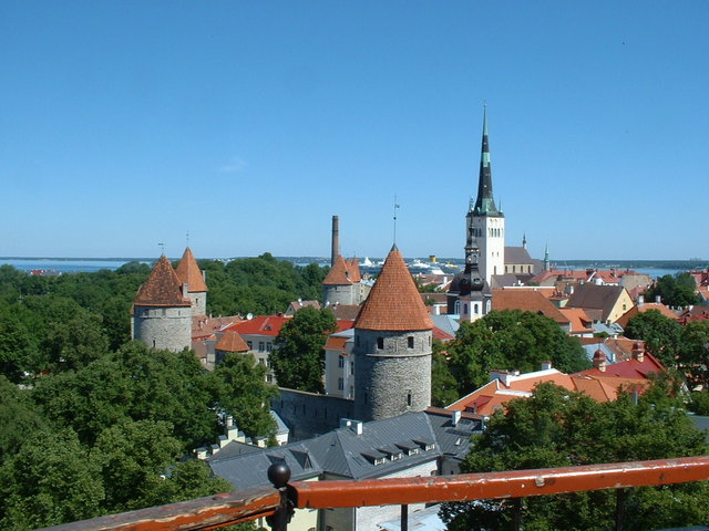View from Kiek in de Kok tower - Tallin